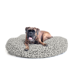 KIN Bed Round - Grey Confetti