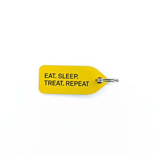 Eat, Sleep, Treat, Repeat Dog Tag