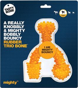 Mighty Rubber Trio Bone - Large Dogs