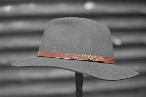 Vintage Hat Band - Red