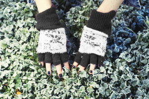 Fingerless Gloves - Cosy Black
