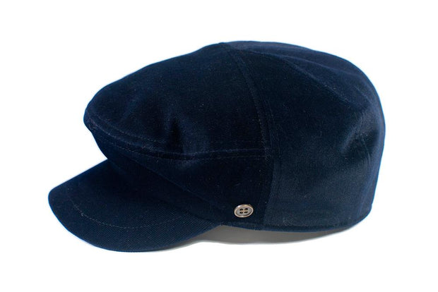 The Twist - Navy Velveteen
