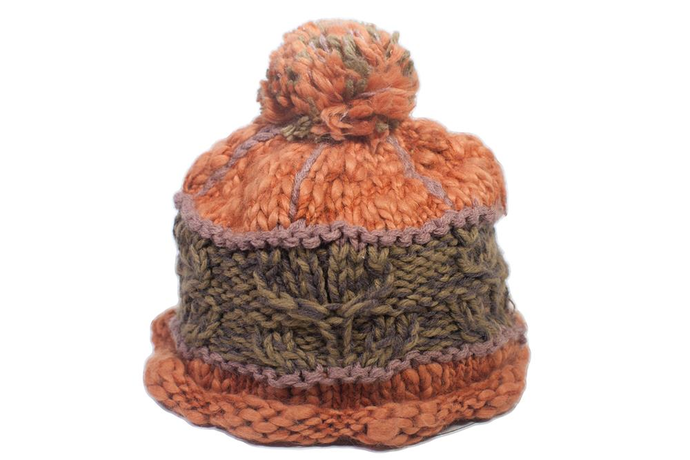 The Acorn Beanie - Orange Marmalade