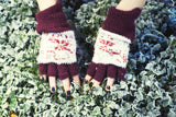 The Fingerless Gloves - Cosy Maroon