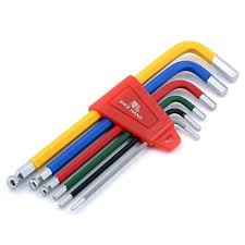 Tool, hexkey set 6, colors, 2-6mm, w/ball end