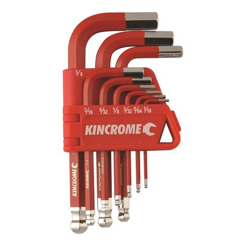 Hex key & wrench set short series 9 piece - IMPERIAL