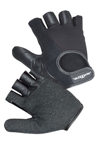 Hatch - Leather Wheelchair Para-Push Gloves, Half Finger