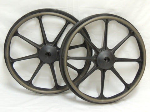 "22"" Quickie Composite Mag Wheel with Push Rims"
