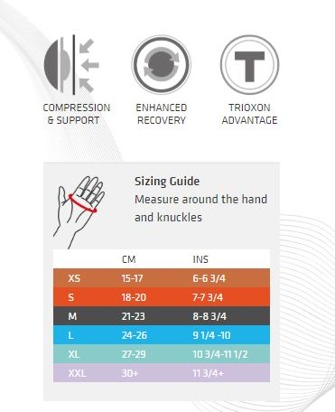 Thermoskin Gloves Size Chart