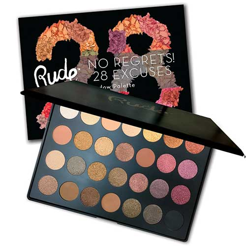 Rude No Regrets! 28 Excuses Eyeshadow Palette - Scorpio