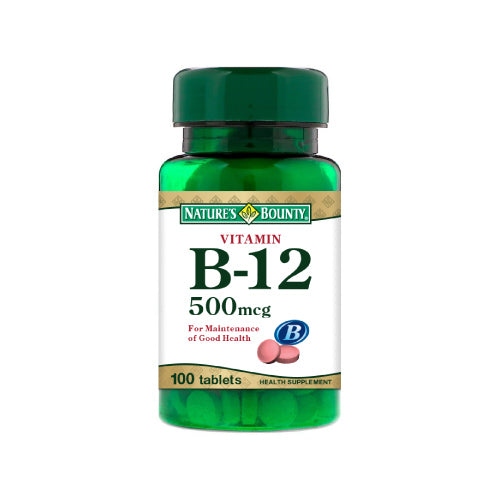 Nature's Bounty Vitamin B12 500mcg (100 Tablets)