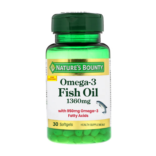 Nature's Bounty  OMEGA 3 FISH OIL 1360mg 30's (Expiry Date: 01/2022)
