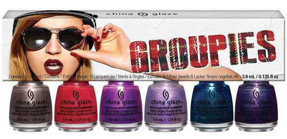 China Glaze Rebel Collection - Groupies 6 Piece Micro Mini Pack