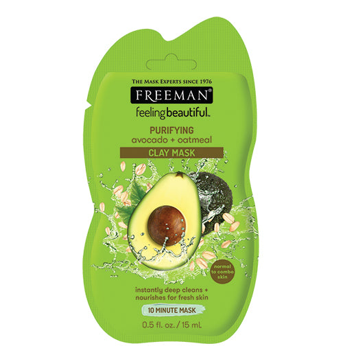 Avocado & Oatmeal Clay Mask (15ml Sachet)