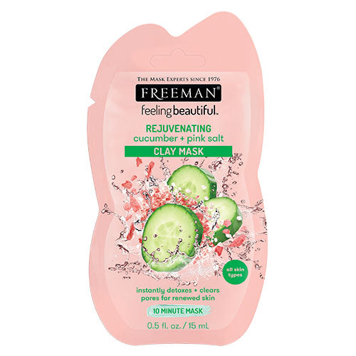 Cucumber & Pink Salt Clay Mask (15ml Sachet)