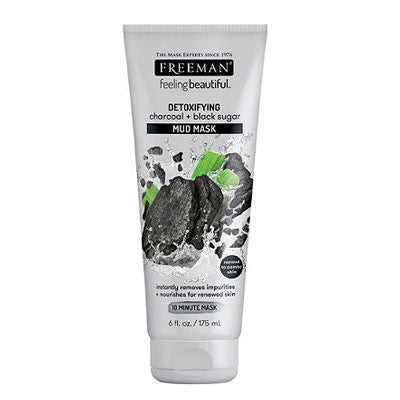 Freeman Beauty Charcoal & Black Sugar Mud Mask [Expiry Date:09/2022]