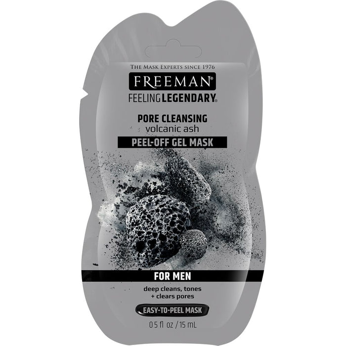 Freeman Beauty Pore Clearing Peel-Off Mask with Volcanic Ash (15ml Sachet) For Men