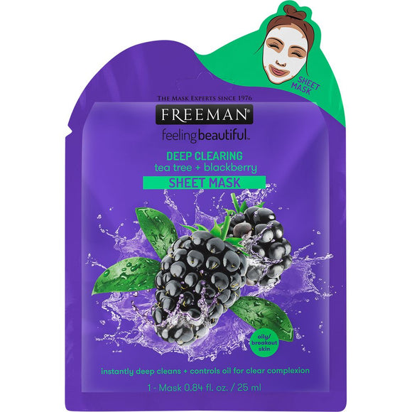 Freeman Beauty Deep Clearing Tea Tree + Blackberry Sheet Mask