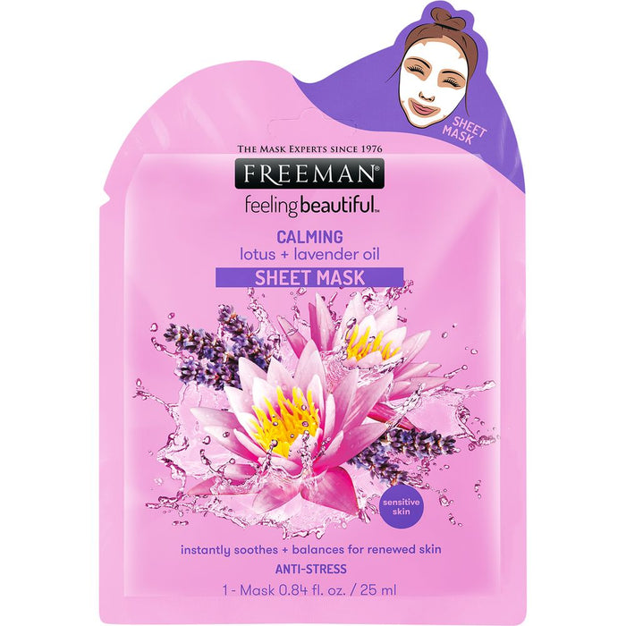 Freeman Beauty Calming Lotus + Lavender Oil Sheet Mask [Expiry Date:12/ 2021]