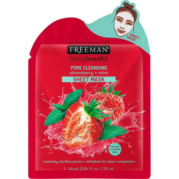 Pore Cleansing Strawberry + Mint Sheet Mask