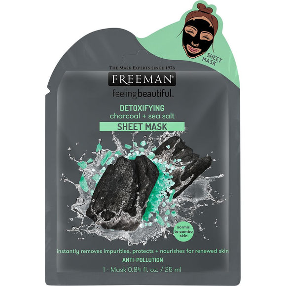 Freeman Beauty Detoxifying Charcoal + Sea Salt Sheet Mask