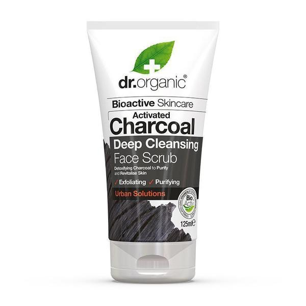 dr. Organic Activated Charcoal Deep Cleansing Face Scrub 125ml [Expiry Date: 03/2022]