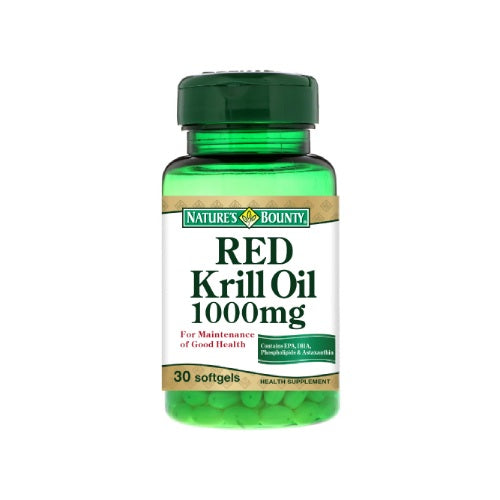 [Buy 1 Free 1] Nature's Bounty Krill Oil 1000mg (30 Softgels)