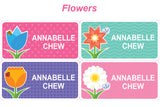 Classic name label - Flowers theme