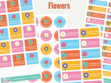 Essential Plus Kids Name Labels - Flowers