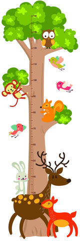 Tree Height Chart Wall Sticker