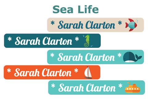 Mini Clothing Labels - Sea Life Themes