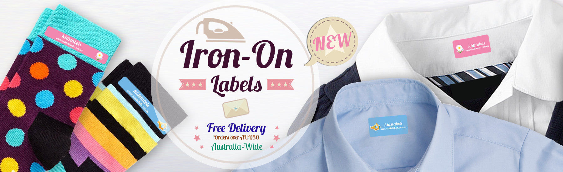 Iron-on Clothing Labels