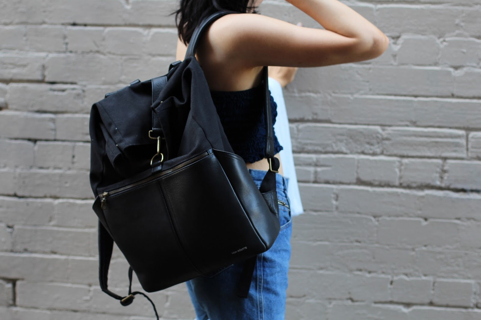 Jessi Webb carrying Sousse Backpack in black