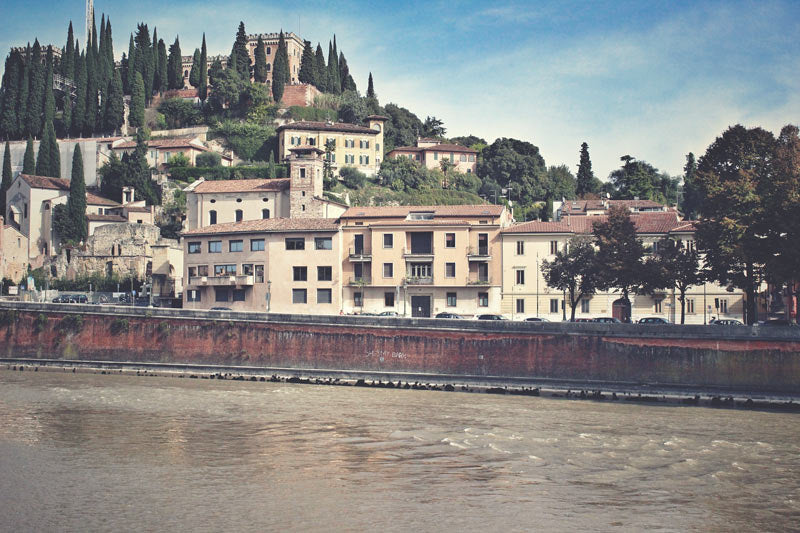 Houses by the Adige River in Verona
