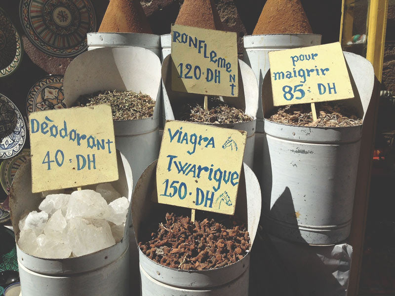 Moroccan spices and medicine