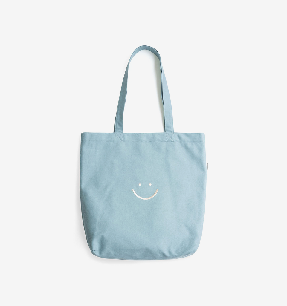 Canvas Pocket Tote Sky Blue