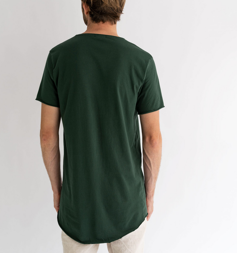 Original Raw Smiley Tee Forest Green