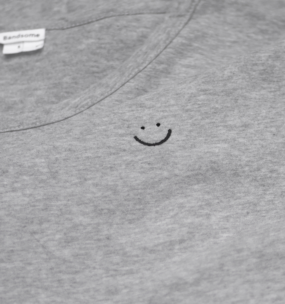 Double Jersey Smiley Tee Grey