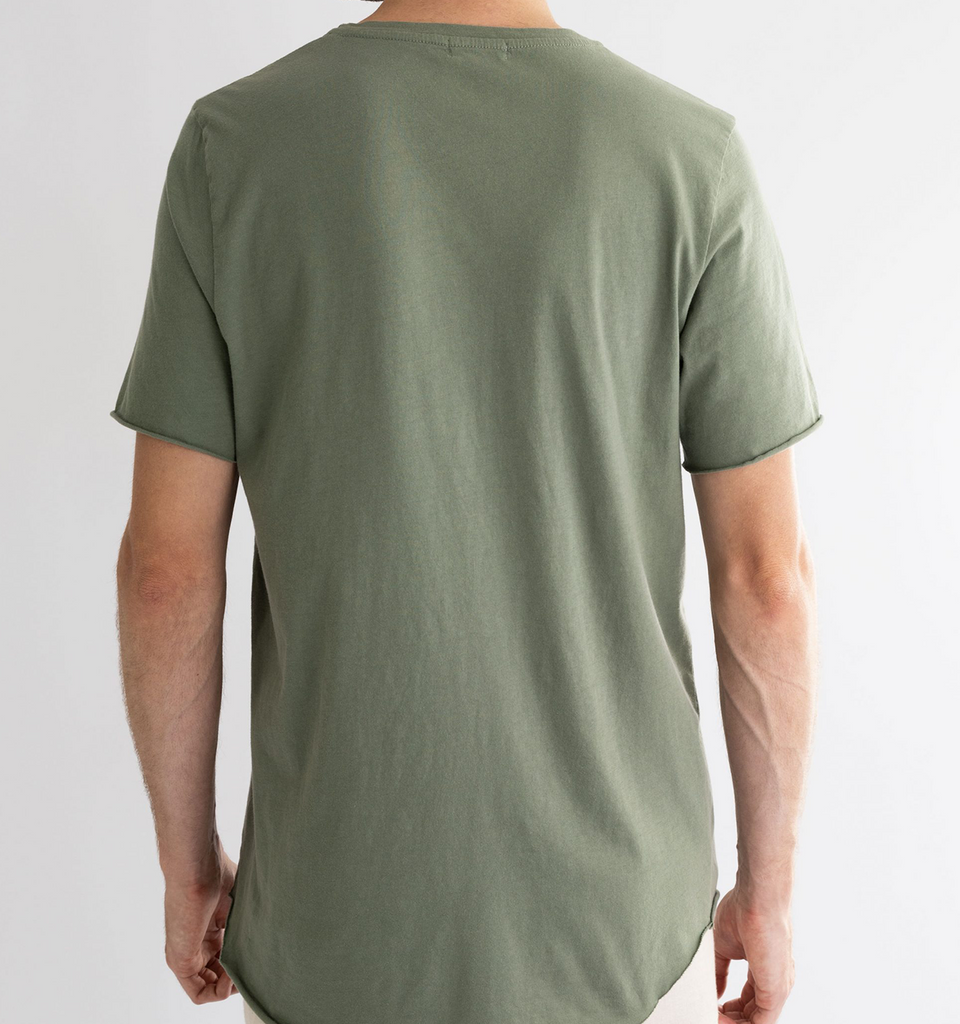 Crew Neck Raw Tee Palm