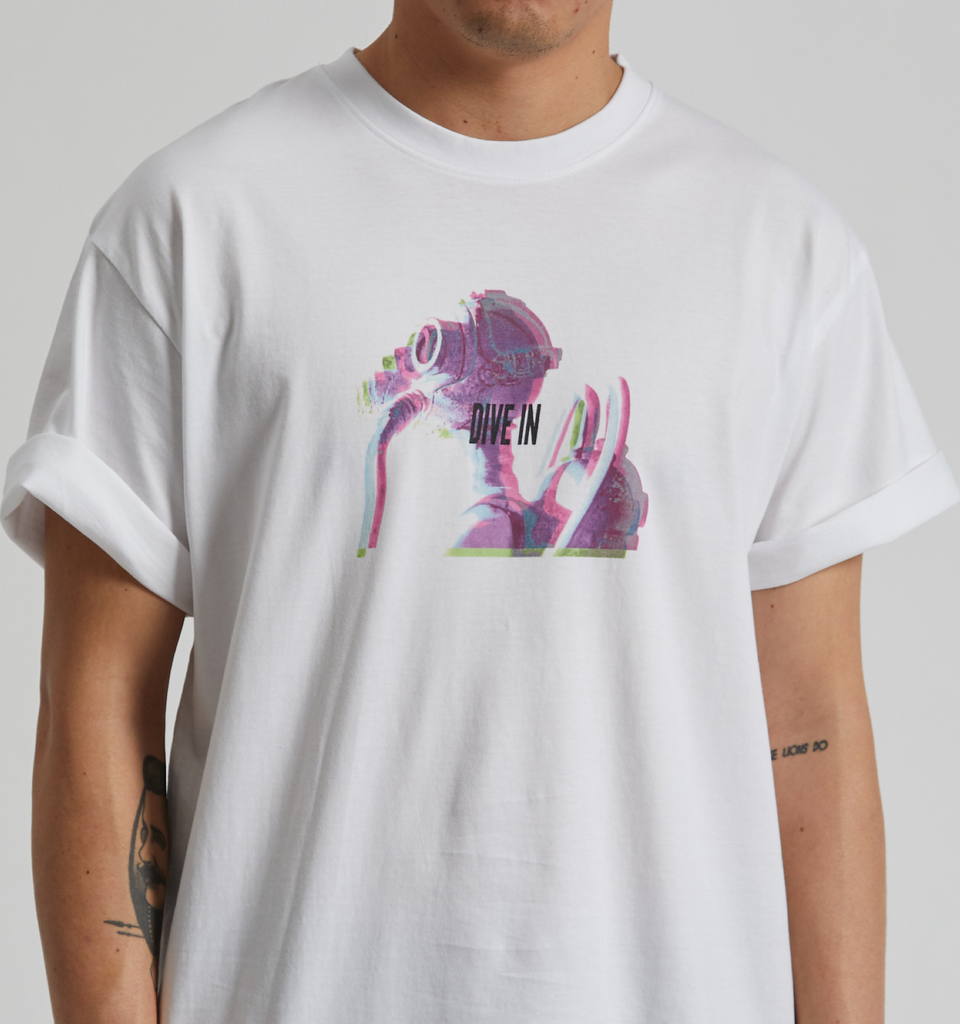 Dive-In Tee White