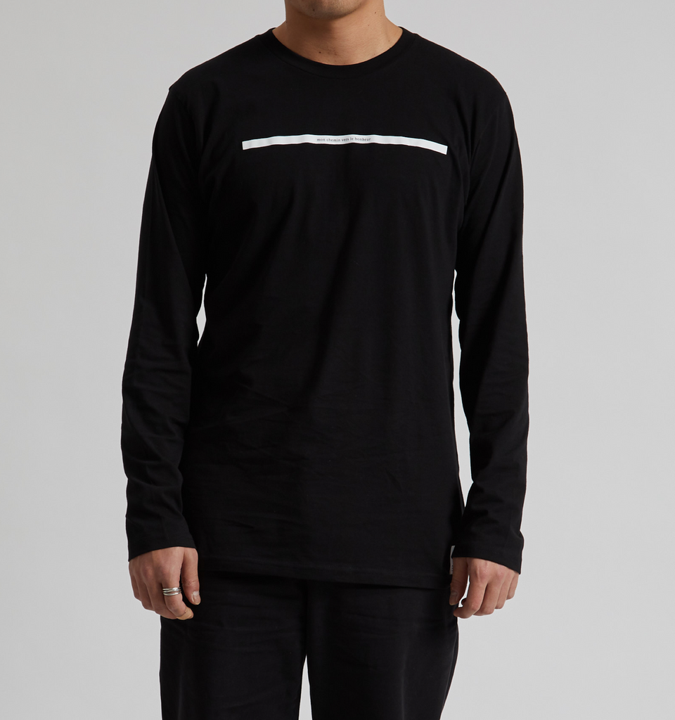 French Route Long Sleeve Tee Black
