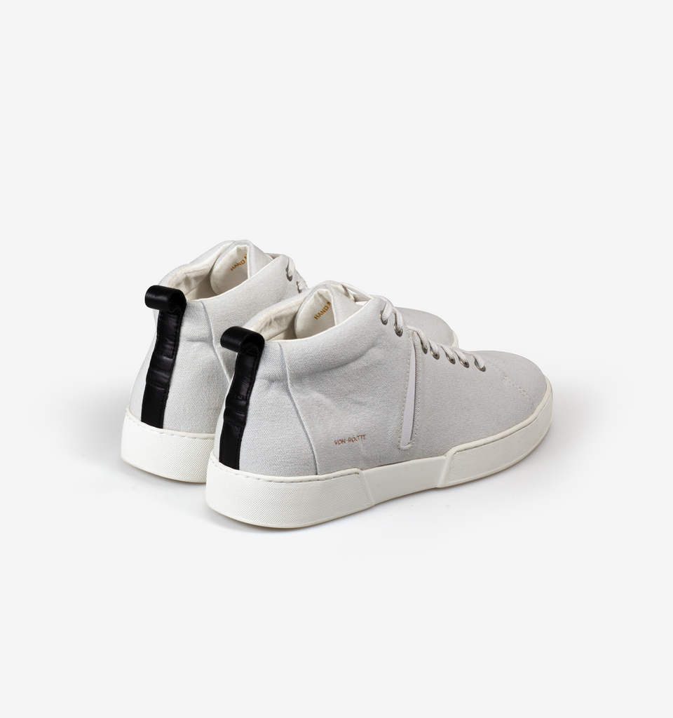 Milford Canvas High Top Sneakers White