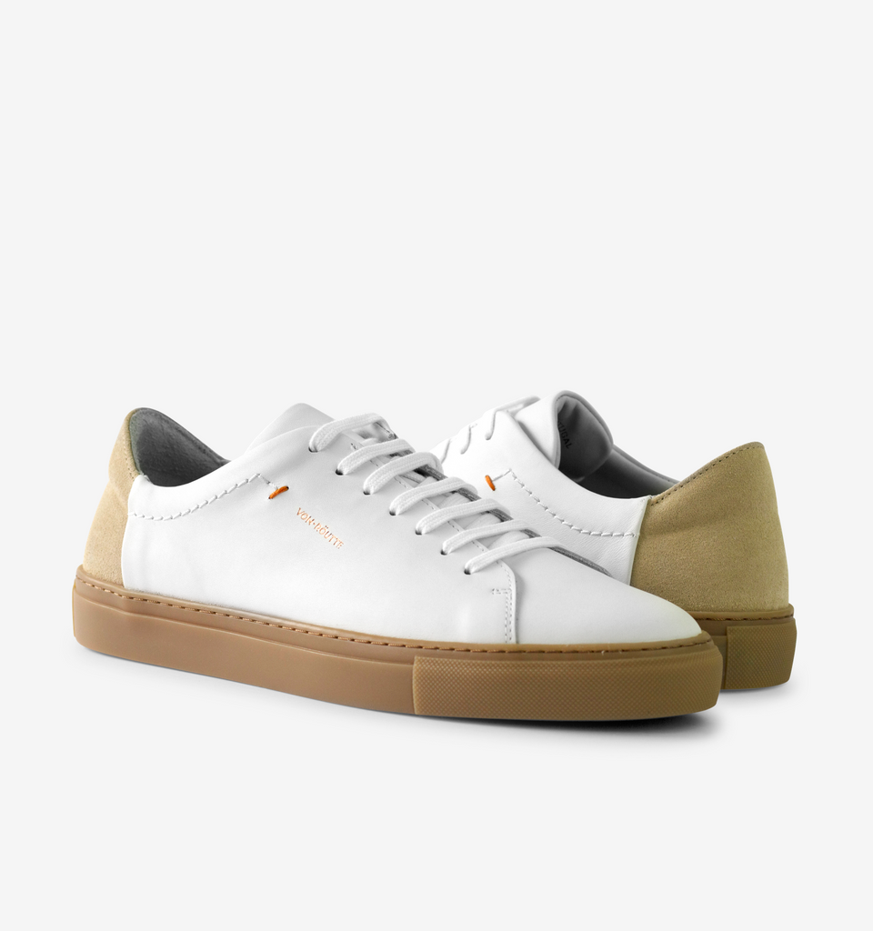 Lyon Sneaker White Cream - Von-Röutte Leather Sneakers