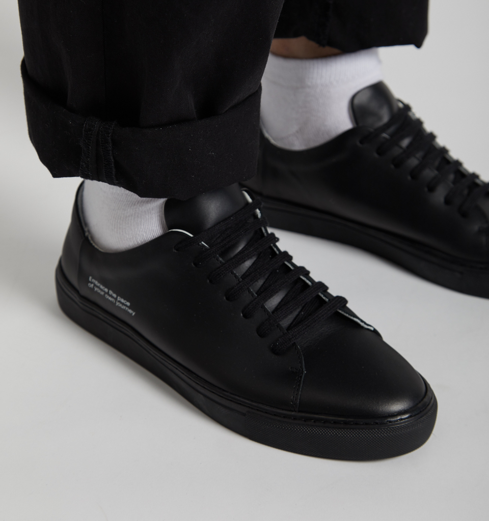 Lyon Sneaker All Black - Von-Röutte Leather Sneakers