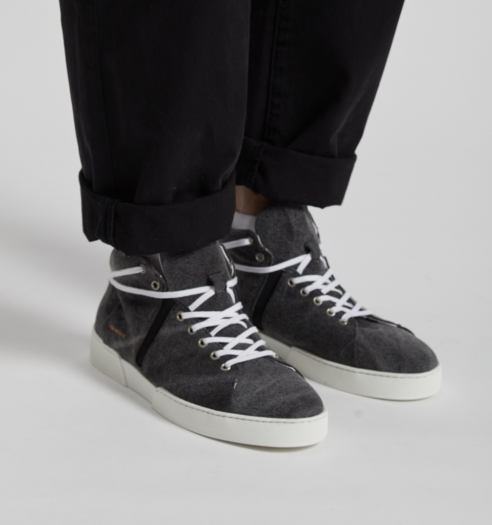 Milford High Top Sneakers Black - Von-Röutte Leather Sneakers