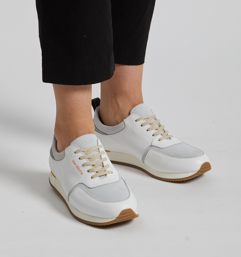 Montreux Runners White - Von-Röutte Leather Sneakers