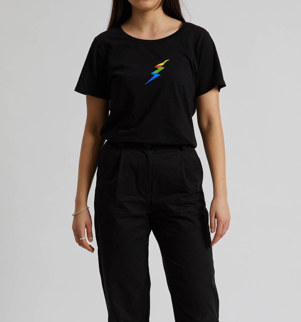 Rainbow Thunder Tee Black