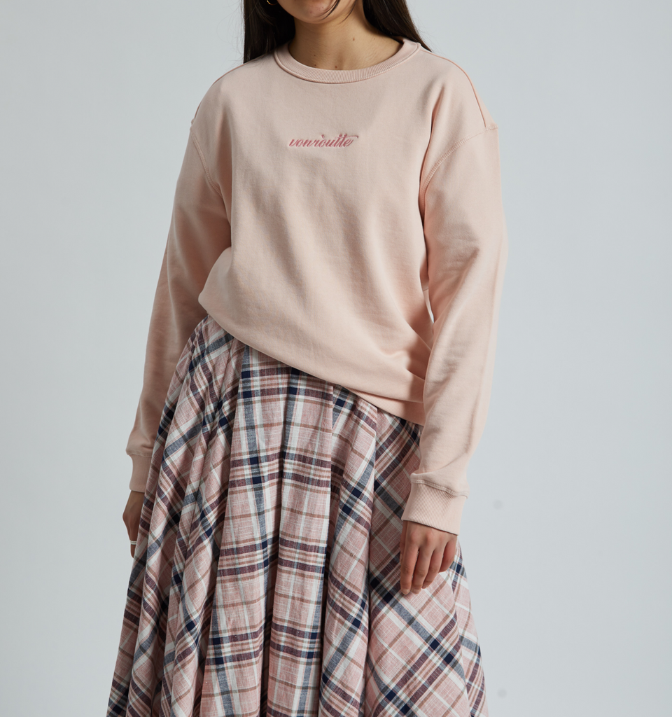 Von-Röutte Sweatshirt Pale Pink - Von-Röutte Leather Sneakers
