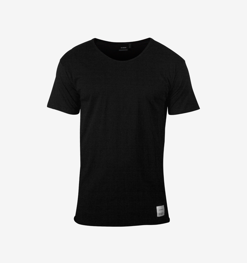 Basic Raw Tee Black