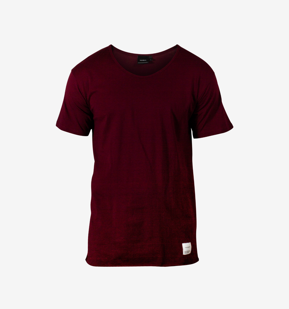 Basic Raw Tee Burgundy